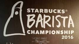 Musa Magwaza of Starbucks SA flying the flag high at their internal barista champs