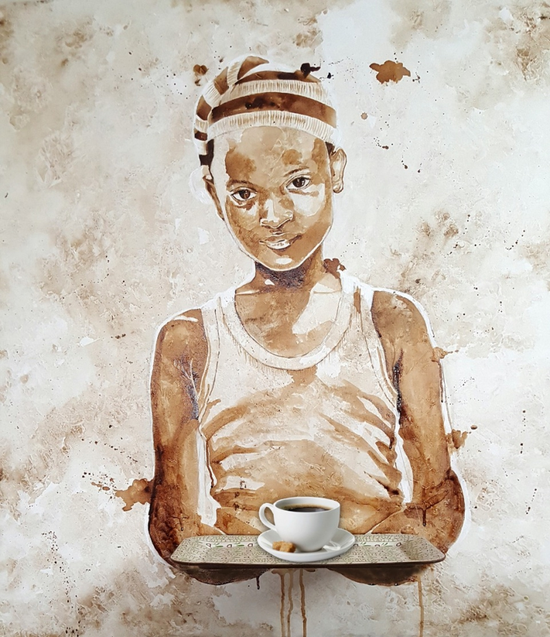 Nigerian artist, Ekene Ngige, inspires peace through coffee on ...