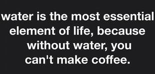 What can you do to save water when it comes to coffee?