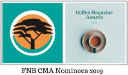 FNB Coffee Magazine Award Nominees 2019