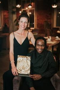 Barista Trainer of the Year: Belinda Flynn (Flynn Coffee) with one of her baristas Phumzile Valashiya
